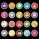 Safety icons with long shadow Stock Photography