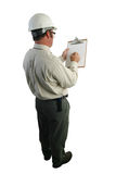Safety Inspector Checklist Royalty Free Stock Images