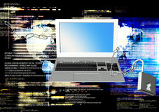 Safety Internet. Computer technology.Generation computers technology Royalty Free Stock Photo