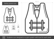 Safety jacket line icon. Royalty Free Stock Images