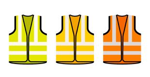 Free Safety Jacket Security Icon. Vector Life Vest Yellow Visibility Fluorescent Work Jacket Royalty Free Stock Photo - 167520705