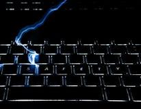 Safety on keyboard Stock Photo
