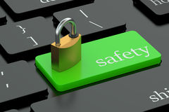 Safety keyboard button Stock Photography