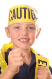 Safety kid punch Stock Photo
