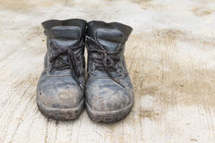 Safety leather shoe Royalty Free Stock Image