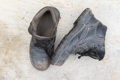 Safety leather shoe Stock Image