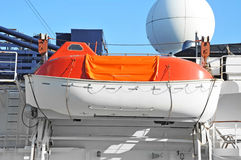 Safety lifeboat on ship deck Royalty Free Stock Photography