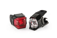 Safety lights for the bicycle Royalty Free Stock Photos