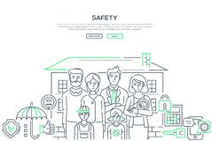 Free Safety - Line Design Style Banner Stock Photography - 125022192
