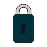 Safety lock icon image. Vector illustration design Stock Images