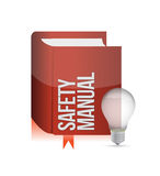 Safety manual book illustration Royalty Free Stock Photography