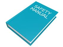 Safety manual book. Image with white background vector illustration