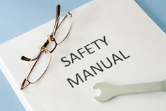 Safety manual Royalty Free Stock Images