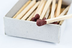 Safety matches in box Stock Photos