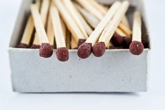 Safety matches in box Royalty Free Stock Image