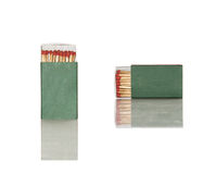 Safety matches in green box Royalty Free Stock Image