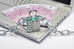 Safety money internet Royalty Free Stock Photography