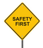 "Safety is No. 1!. ""Safety First"" sign isolated on white (with clipping path Stock Images"