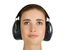 Safety noise earphones Royalty Free Stock Photo