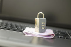 Safety of online banking Stock Image