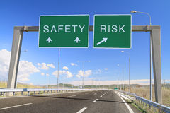Safety Or Risk. Make A Choice Stock Image