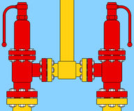 Safety overload relief valves Stock Photography