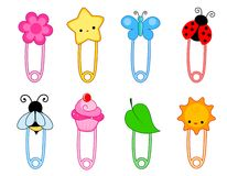Safety pin / pins Royalty Free Stock Photos