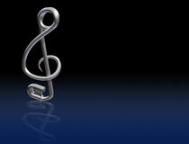 Safety Pin Treble Clef Royalty Free Stock Photo