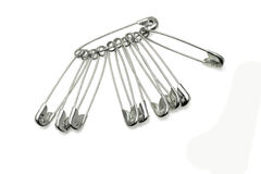 Free Safety Pins Royalty Free Stock Photo - 17176905