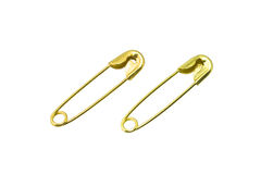 Safety pins Royalty Free Stock Image
