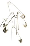 Safety pins Stock Images