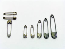 Safety Pins - Full bar connection Stock Photos