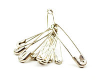 Safety Pins Royalty Free Stock Photography