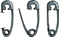 Safety pins Stock Photography