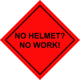 Safety placard. Clear statement for safety at work Stock Images