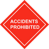Safety placard accidents. Good for presentations with respect to safety and health Royalty Free Stock Images
