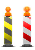 Safety pole. Detailed illustration of traffic and construction safety poles  on white Stock Photo