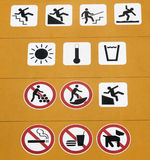 Safety and prohibition signs Royalty Free Stock Photography