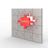 Safety puzzle Royalty Free Stock Images