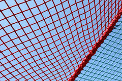 Safety red net. Against the blue sky Stock Image