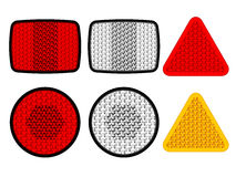 Safety reflectors red white orange Stock Photos