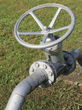 Safety relief valve and closing valve Royalty Free Stock Photo