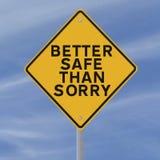 Safety Reminder Royalty Free Stock Photo