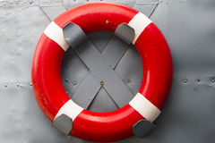 Safety ring on the ship Stock Photography