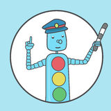 Safety on the road. A clear sign for children. Royalty Free Stock Photos