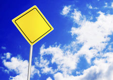 Safety road sign Stock Photos