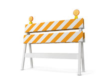 Safety roadblock Stock Photo