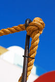 safety rope  in the blue sea Stock Images