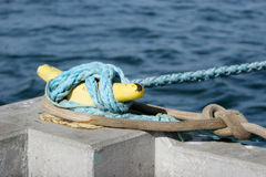 Safety rope of a boat Stock Photo