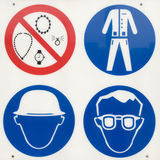 Safety rules Stock Photos